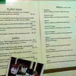 Restaurace Porta da Terra - jídelní lístek
