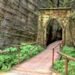 Skalní město Adršpach - starý vstup do skal