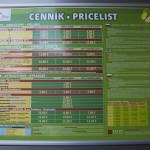 Lanovka na Hrebienok - Ceník jízdného