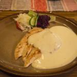 Restaurace hotelu Strachanovka - kuřecí steak