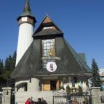 Zakopane - kostel - před ním Jan Pavel II