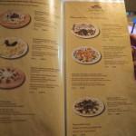Jánošíkov dvor - jídelní lístek