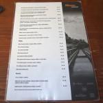Restaurace výtopna jídelní lístek