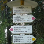 Rozhledna Svatobor - rozcestník