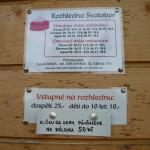 Rozhledna Svatobor - vstupné