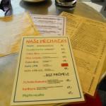Jídelní lístek restaurace Vanilli Karviná