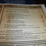 Restaurace Roubenka Štramberk - jídelní lístek