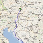 Cesta Chorvatsko - mapa