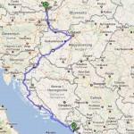 Cesta přes Maďarsko