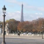 Place de la Concorde pohled na Eiffelovku