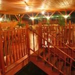 schody v restauraci
