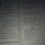 Restaurace Valtická rychta jídelní lístek