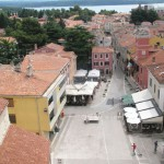 Novigrad - pohled na město z věže