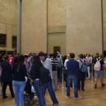 Louvre Paříž - nával před Mona Lisou