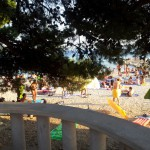 Restaurace BUM BAR Makarska - pohled na pláž