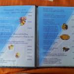 Restaurace BUM BAR Makarska - jídelní lístek