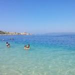 Centrální pláž v Makarske
