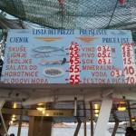Restaurace Makarski Jadran - nabídka