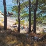 FKK Makarská - pohled na pláž