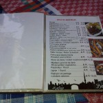 Jídelní lístek v Mostaru