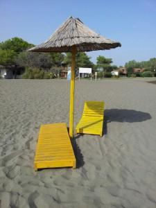 FKK kemp ADA BOJANA - plážová lehátka