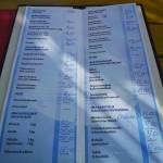 Restaurace Maestral Ada Bojana - jídelní lístek