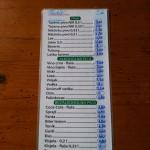 Grill plaža - jídelní lístek
