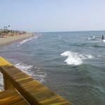 Restaurace Maestral Ada Bojana - pohled na pláž