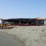Restaurace Maestral Ada Bojana - pohled z pláže