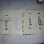 Restaurace Bella Vista Ulcinj - jídelní lístek