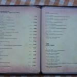 Restaurace Kužina Sutomore - jídelní lístek